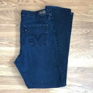 Levi's 512 Perfectly Slimming Dark Wash Jeans